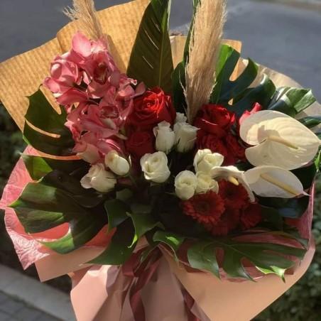 Ηλιάνα - ορχιδέα, ανθούρια, pampas, τριαντάφυλλα, ζέρμπερες