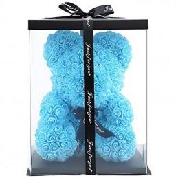 RoseBear, μπλε, με καρδιά ή...