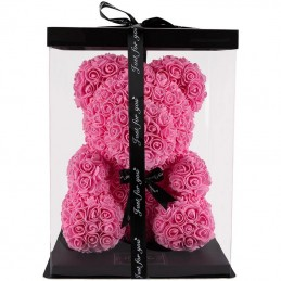RoseBear, pink, with heart or ribbon, 40cm cover
