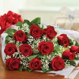 DOZEN - FLOWER WITH 12 RED ROSES