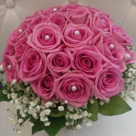 Pearls - Pink Roses