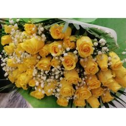 Ανθοδέσμη Κίτρινα Τριαντάφυλλα