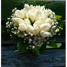 Bridal With White Tulips