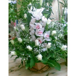Engagement Basket With Orchid