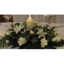 Composition for Table With Candle
